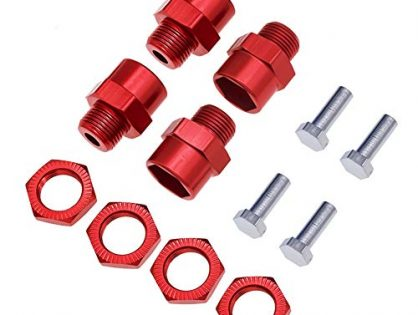4pcs Aluminum 12mm to 17mm hex Wheel hub adapters 15mm Offset Extension for 1/10 Rc car Upgrade 1/8 Tires
