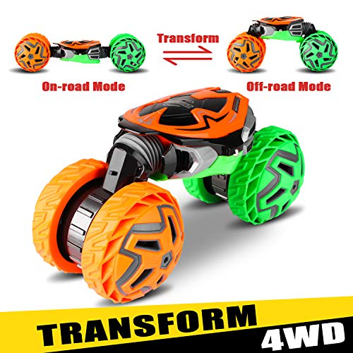 XIXOV 1:14 RC Car, Two Sided Transform Offroad High Speed Remote Control Truck Kids Toys 2.4GHz 4WD Motors Electric Racing Vehicles Birthday Gift for Children