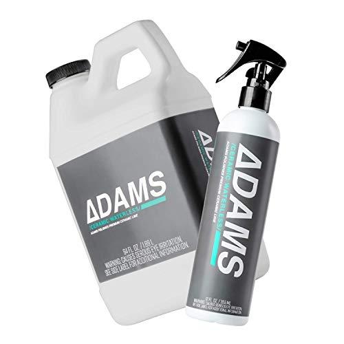 Clean & Boost The Ceramic Protection of Car, Boat, RV, Truck & Motorcycle - Hydrophobic Top Coat Cleaner & Sealant - Adam's Ceramic Waterless Wash BOGO 64oz & Bonus 12oz