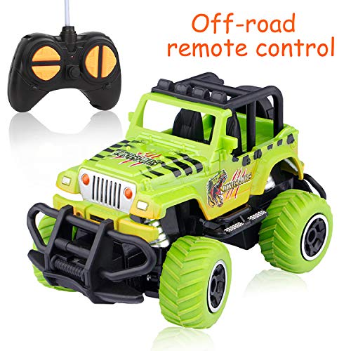 Off-Road Vehicle Toy for Kids 3-9 Years Old, Remote Control Car for Boys RC Car Jeep Car Toy for Kids 4-12 Years Old Birthday Gifts for 3-10 Year Old Kids Jeep Toys Orange