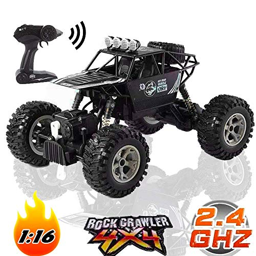 Off Road RC Trucks High Speed Racing Car 1/16 Scale Remote Control Monster 2.4Ghz 4WD with Rechargeable Batteries for All Adults & Kids