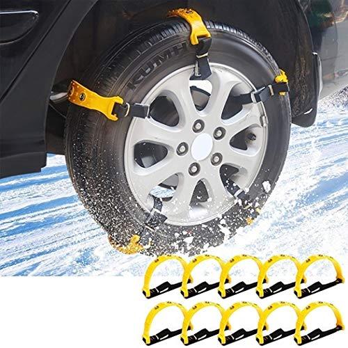 TelDen Durable Non-Slip Car Anti-Skid Tire Belt Tire Snow Chains Car Accessories Tire Chains