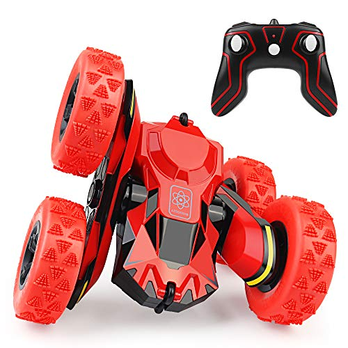 RC Cars Remote Control Stunt Car Toy, 2.4GHz 4WD Off Road Truck Remote Control Vehicle Double Sided 360 Degree Rotating,Best Christmas Birthday Gift for Kids