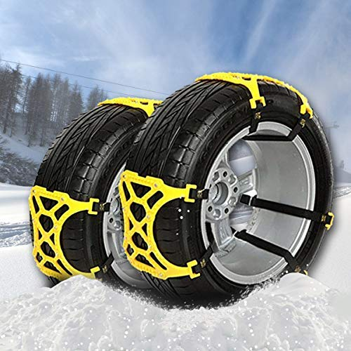Emergency Vehicle Car SUV Truck - VaygWay Car Snow Tire Chains - Car Tire Chains for Snow - 6 Pc Anti Slip Chain