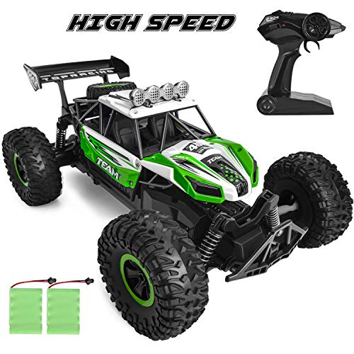 ROOYA BABY High Speed RC Cars for Kids Fast Remote Control Car for Boys Off Road RC Trucks for Adults Kids 2.4G Radio Control Electric Toy Car with 2 Rechargeable Batteries