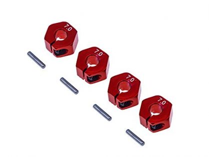 4Pcs Aluminum 12mm hex hubs Wheel adapters 7mm Thickness for 1/10 RC Rc HPI Redcat Traxxas