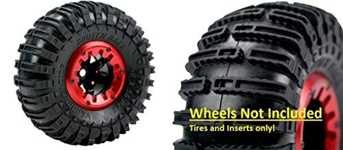 Venom Beadlock Switch Back 1:10 Scale 2.2 Creeper Rock Crawler Tires & Inserts Complete Set Fits: Axial SCX10 Wraith Redcat Everest & Others