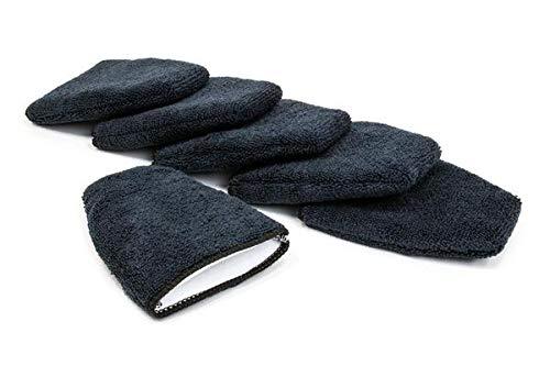 Finger Applicator Microfiber Fingertip Mitt Applicator 5 in. x 4 in. 6 Pack Black