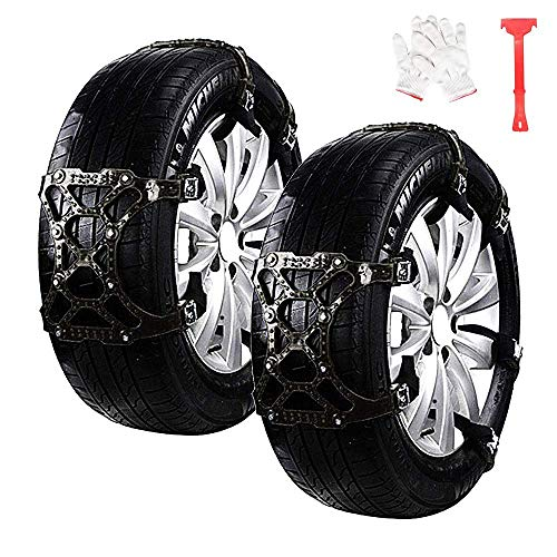 "Car Snow Chains 6pcs Anti Slip Snow Skid Chains Universal Adjustable Tire Snow Chains Winter for Hyundai Cars/SUV/Truck/ATV Anti-Skip, Snow, Mud and Sand Tire Traction Device, Tire Width with 6""-11"""