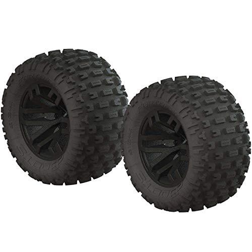 ARRMA dBoots Fortress MT Tire Set Glued Black 2, ARAC9632