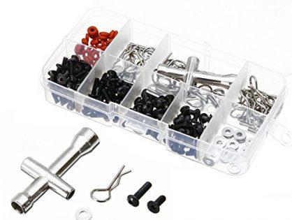 prorcmodel 270 in One Set Screws Box Repair Tool Kit for 1/10 HSP RC Car DIY Kits 94188