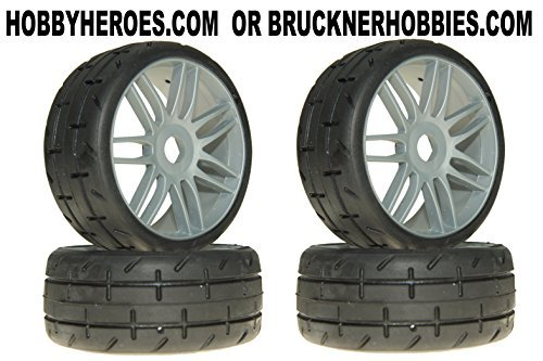 GRP GTK01-S3 GT T01 REVO S3 Soft Belted Mounted Tires 4 1/8 Buggy Silver