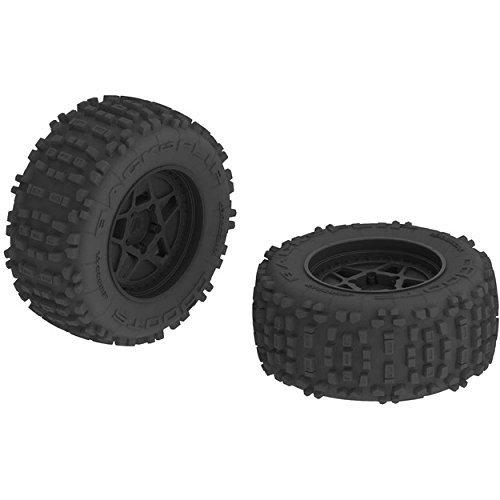 """ARRMA AR510092 Dboots Backflip 3.8"""" Mt 6S RC Monster Truck Tire with Foam Insert, Mounted On Multi-Spoke Wheel 17Mm Hex, Black Set of 2"""