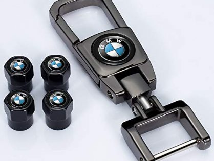 Kaolele 5 Pcs Metal Car Wheel Tire Valve Stem Caps for BMW X1 X3 M3 M5 X1 X5 X6 Z4 3 5 7Series with Key Chain Logo Styling Decoration Accessories ...