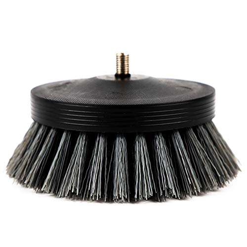"""SGCB PRO 3.5"""" Carpet Drill Brush With Drill Attachment, Medium Duty Car Detailing Scrubbing Brush Pneumatic Scrubber Stiff Brush For Cleaning Car Interior Carpet Upholstery Leather Seat Floor Mat Tire"""