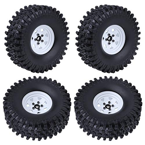Hobbypark 1.9 Beadlock Wheels and Tires for 1/10 RC Crawler Car Traxxas TRX-4 Axial SCX10 Redcat Gen7 RC4WD D90 Set of 4