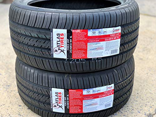 Set of 2 TWO Atlas Tire Force UHP High Performance All Season Radial Tires-255/40R18 99Y XL