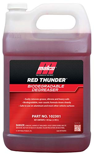 Breaks Down Grease & Grime on Engines, Wheels and Tires/Biodegradable, Heavy Duty and Multi-Purpose / 1 Gallon 102301 - Automotive Cleaner and Degreaser - Malco Red Thunder