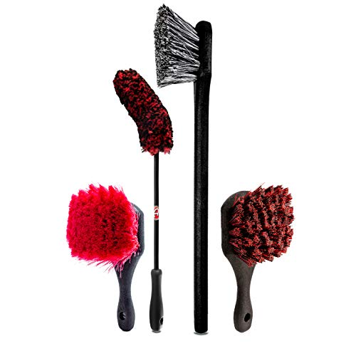 Specially Designed Brushes for Every Part of Your Wheels & Tires Ultimate Wheel Brush Kit - Adam's Wheel Brush Kit - Every Brush You Need to Detail Your Cars Wheels, Tires, Barrels, and More