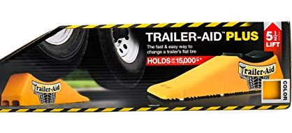 """Trailer-Aid """"Plus"""" Tandem Tire Changing Ramp, The Fast and Easy Way To Change A Trailer's Flat Tire, Holds up to 15,000 Pounds, 5.5 Inch Lift Yellow"""