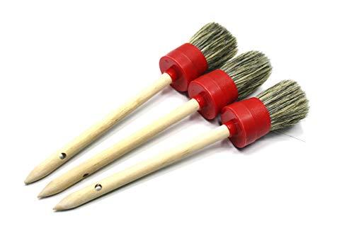 Dia: 10#40mm, Hair Length: 55mm 3pcs/Pack - Maxshine Car Detailing Brush Set