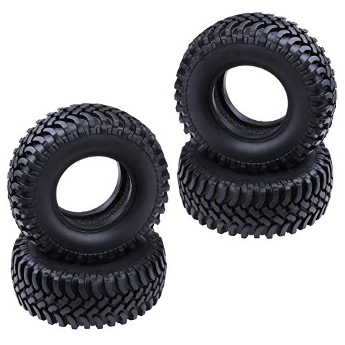 """Hobbypark Rubber 1.9"""" Tires OD 100mm for 1/10 RC Rock Crawler Axial SCX10 Tamiya CC01 RC4WD D90 Car Wheel Tyres Replacament4-Pack"""