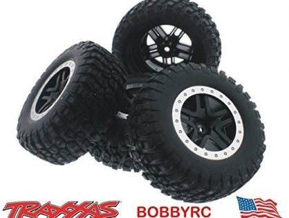 Slash 58034-2 2wd Tires & 12mm Black Split Spoke Wheels /Fit Raptor Traxxas