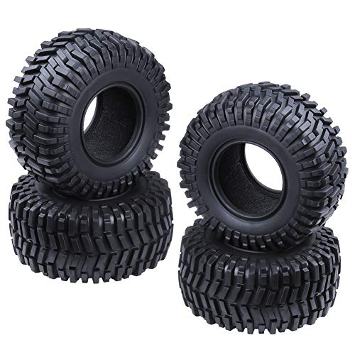 "Hobbypark 2.2"" Tires with Foam Inserts Beadlock Wheel Rims Tyres for 1/10 RC Rock Crawler Truck Replacement All Terrain 4-Pack"