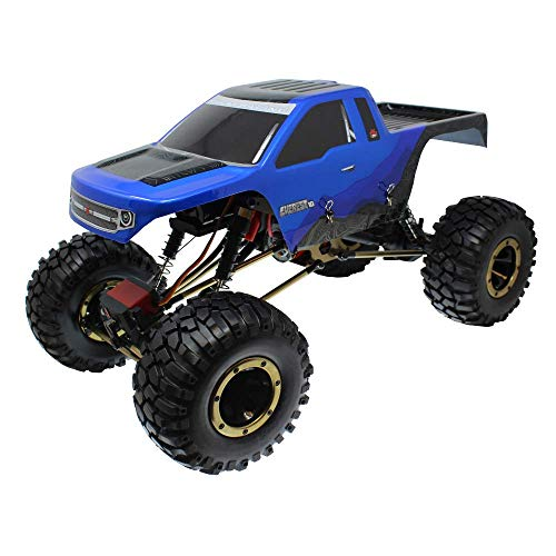 Redcat Racing Everest-10 Electric Rock Crawler with Waterproof Electronics, 2.4Ghz Radio Control 1/10 Scale, Blue/Black