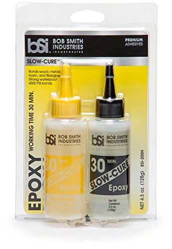 Bob Smith Industries BSI-205 Clear Slow-Cure Epoxy 4.5 oz. Combined