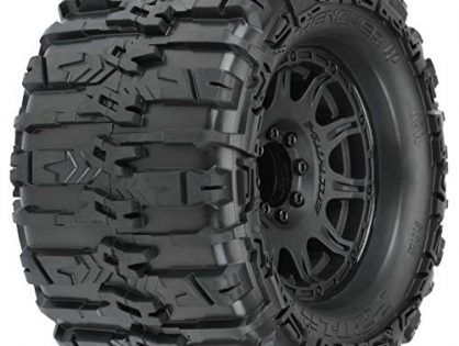 "Pro-line Racing Trencher HP 3.8"" Belted MT Tires, Raid Black Mounted 8x32 17mm Hex 2, PRO1015510"