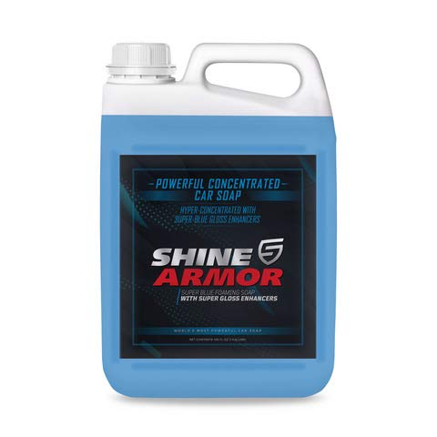Spray on or Mitt - SHINE ARMOR Ultra Concentrated Car Wash Soap for Car Washing, Detailing, Cleaning - Car Wash and Wax - Hydrophobic Top Coat Polish - Wash & Wax Formula - 1 Gallon