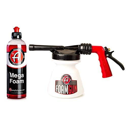 Produces Thick, Sudsy Foam for Car Washing - Use with Regular Garden Hose - Adam's Standard Foam Gun - Fun, Efficient Way to Foam Down Your Vehicle Foam Gun & 16 oz Mega Foam