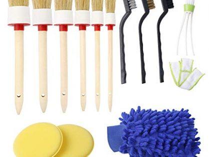 JANYUN 13 Pcs Auto Detailing Brush Set for Cleaning Car Interior Exterior...