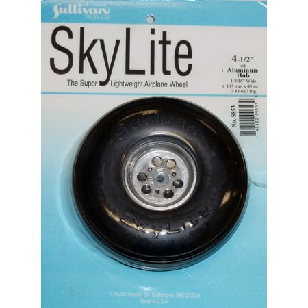 "Sullivan Products Sky Wheel w/Alum Hub, 4-1/2"", SUL853"