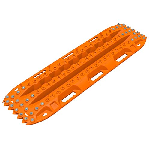 ActionTrax AT20 Pair of Self Recovery Vehicle Track System with Metal Teeth for Cars, Trucks, and SUVs for Snow, Sand, Mud and Silt, Orange