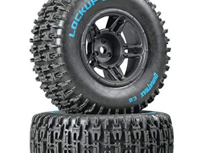 Duratrax Lockup SC Tire C2 Mounted Black Front: Slash2, DTXC3670