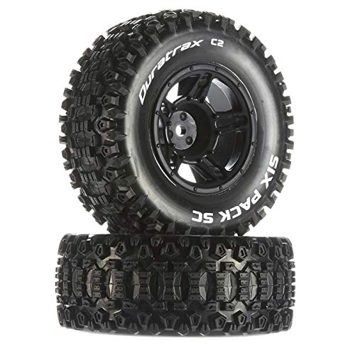 Duratrax Six-Pack SC C2 Mounted Tires: Traxxas Slash Front 2, DTXC3860
