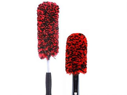 2 Pieces Soft Dense Wheel Brush Kit, Tire Woolies,Metal Free & Scratch Free
