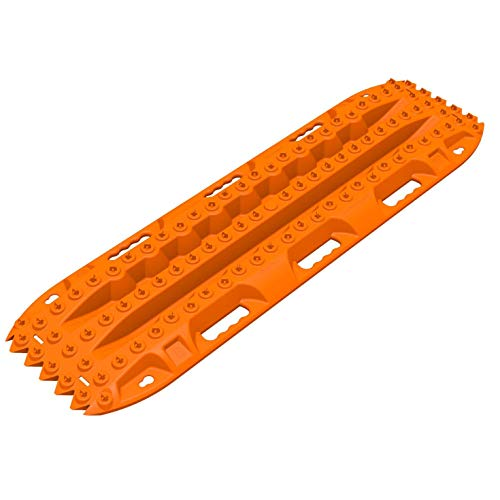 ActionTrax AT1O Pair of Self Recovery Vehicle Track System for Cars, Trucks, and SUVs for Snow, Sand, Mud and Silt, Orange