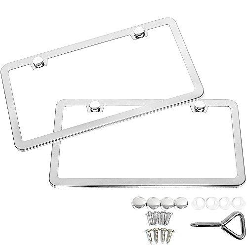 Top 10 Chrome License Plate Frame Nissan - License Plate Frames