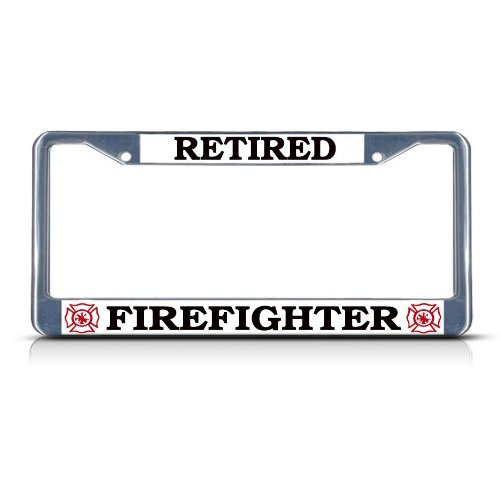 Top 10 Retired Firefighter License Plate Frame - License Plate Frames