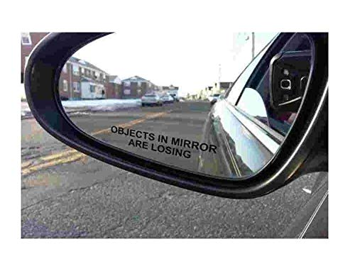 Top 9 Objects in Mirror are Losing Sticker - Bumper Stickers, Decals & Magnets