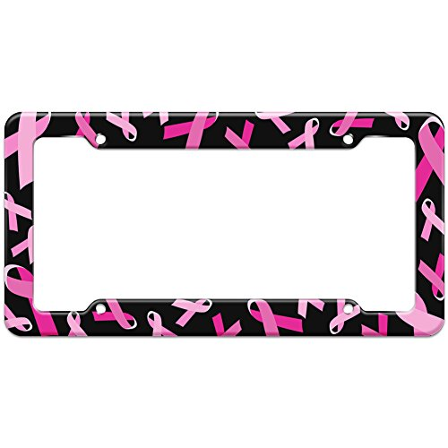 Top 7 Breast Cancer Awareness - License Plate Frames