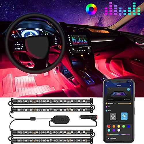 Top 10 LED Interior Car Lights Bluetooth - Automotive Neon Accent Light Kits