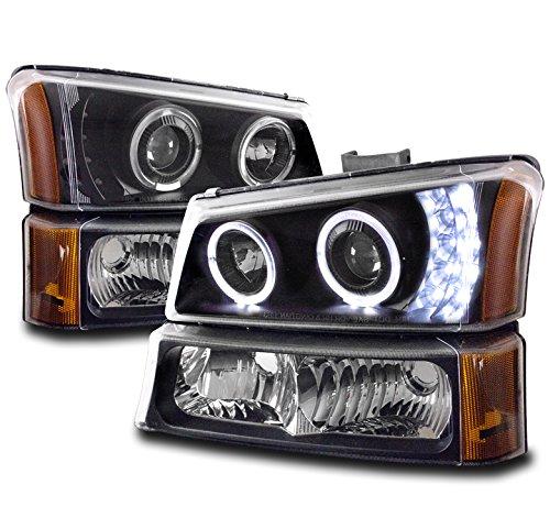 Top 10 Halo Headlights 2004 Chevy Silverado - Automotive Headlight Assemblies