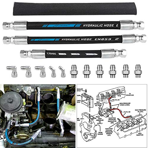 Top 10 High Pressure Oil Pump HPOP Hoses Lines - Automotive Replacement Fuel Injection Oil Supply Lines