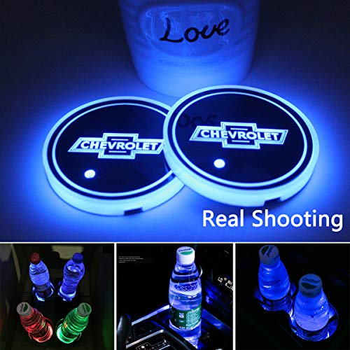 Top 10 2PCS LED Car Cup Holder Lights for Chevrolet - Automotive Cup Holders