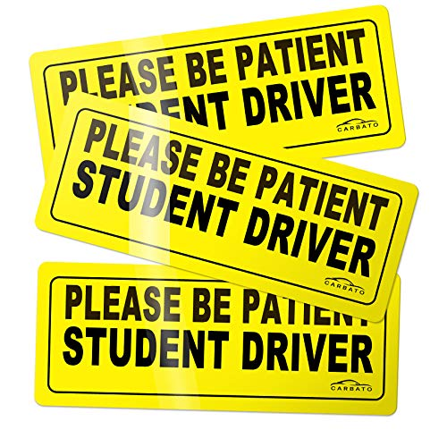 Top 10 Please Be Patient Student Driver Magnet - Bumper Stickers, Decals & Magnets