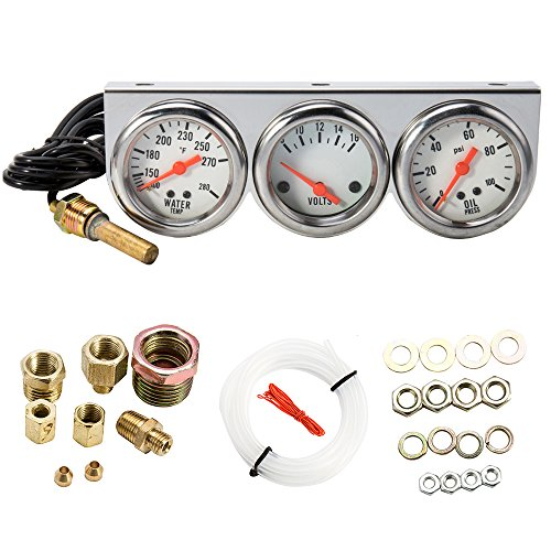 Top 8 Triple Gauge Kit - Automotive Replacement Gauge Sets